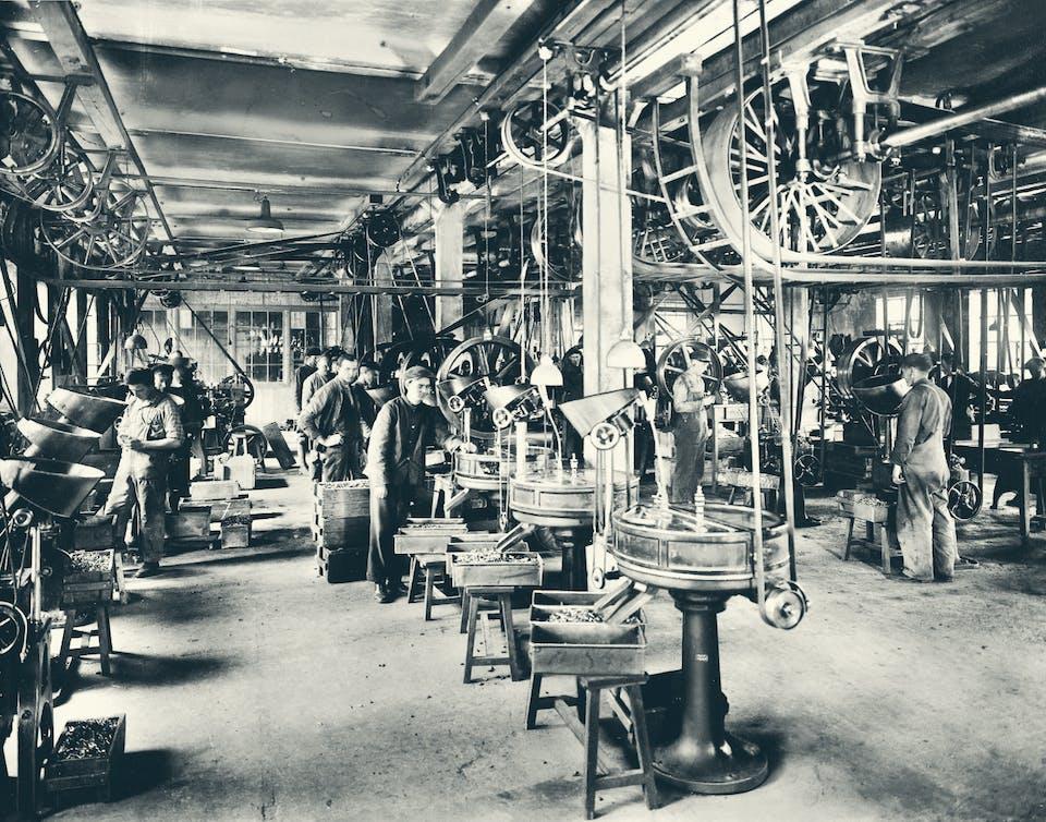 Gammelt bilde fra fabrikken